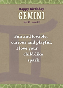 Gemini - Unreal Greetings Signs of Sarcasm