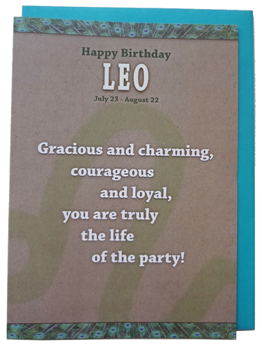Leo - Unreal Greetings Signs of Sarcasm
